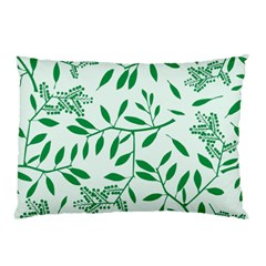 Leaves Foliage Green Wallpaper Pillow Case (two Sides) by Onesevenart