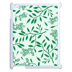 Leaves Foliage Green Wallpaper Apple Ipad 2 Case (white) by Onesevenart
