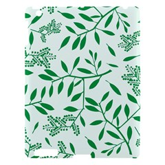 Leaves Foliage Green Wallpaper Apple Ipad 3/4 Hardshell Case by Onesevenart