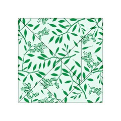 Leaves Foliage Green Wallpaper Acrylic Tangram Puzzle (4  X 4 ) by Onesevenart