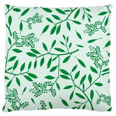 Leaves Foliage Green Wallpaper Large Cushion Case (two Sides) by Onesevenart