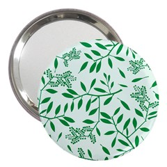 Leaves Foliage Green Wallpaper 3  Handbag Mirrors by Onesevenart