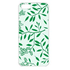 Leaves Foliage Green Wallpaper Apple Iphone 5 Seamless Case (white) by Onesevenart