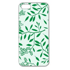 Leaves Foliage Green Wallpaper Apple Seamless Iphone 5 Case (clear) by Onesevenart