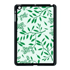 Leaves Foliage Green Wallpaper Apple Ipad Mini Case (black) by Onesevenart