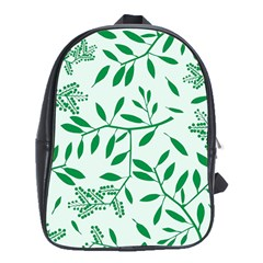 Leaves Foliage Green Wallpaper School Bags (xl)  by Onesevenart
