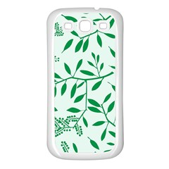 Leaves Foliage Green Wallpaper Samsung Galaxy S3 Back Case (white) by Onesevenart