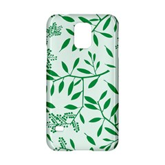 Leaves Foliage Green Wallpaper Samsung Galaxy S5 Hardshell Case  by Onesevenart