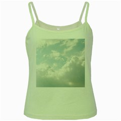 Light Nature Sky Sunny Clouds Green Spaghetti Tank by Onesevenart