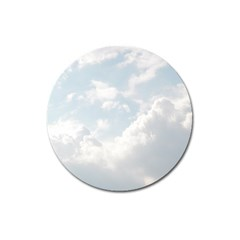 Light Nature Sky Sunny Clouds Magnet 3  (round) by Onesevenart