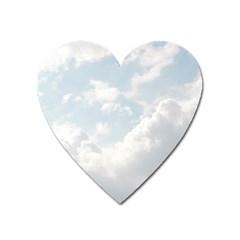 Light Nature Sky Sunny Clouds Heart Magnet by Onesevenart