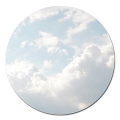 Light Nature Sky Sunny Clouds Magnet 5  (round) by Onesevenart