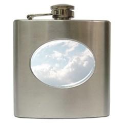Light Nature Sky Sunny Clouds Hip Flask (6 Oz) by Onesevenart
