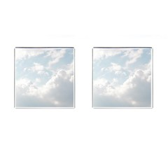 Light Nature Sky Sunny Clouds Cufflinks (square) by Onesevenart