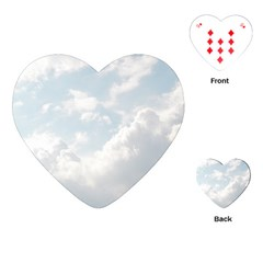 Light Nature Sky Sunny Clouds Playing Cards (heart)  by Onesevenart