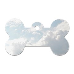 Light Nature Sky Sunny Clouds Dog Tag Bone (two Sides) by Onesevenart