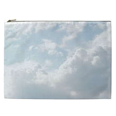 Light Nature Sky Sunny Clouds Cosmetic Bag (xxl)  by Onesevenart
