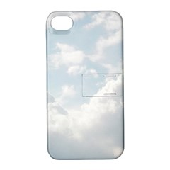 Light Nature Sky Sunny Clouds Apple Iphone 4/4s Hardshell Case With Stand by Onesevenart