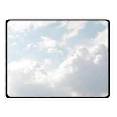 Light Nature Sky Sunny Clouds Double Sided Fleece Blanket (small)  by Onesevenart