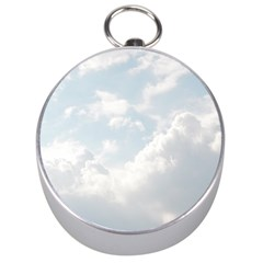 Light Nature Sky Sunny Clouds Silver Compasses by Onesevenart
