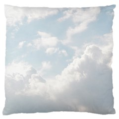 Light Nature Sky Sunny Clouds Large Flano Cushion Case (two Sides) by Onesevenart