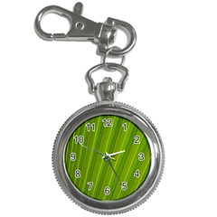 Green Leaf Pattern Plant Key Chain Watches by Onesevenart
