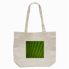 Green Leaf Pattern Plant Tote Bag (cream) by Onesevenart