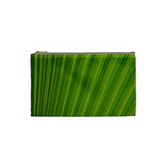 Green Leaf Pattern Plant Cosmetic Bag (small)  by Onesevenart