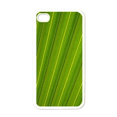 Green Leaf Pattern Plant Apple Iphone 4 Case (white) by Onesevenart