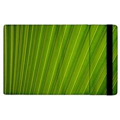 Green Leaf Pattern Plant Apple Ipad 2 Flip Case by Onesevenart