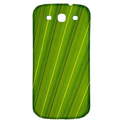 Green Leaf Pattern Plant Samsung Galaxy S3 S Iii Classic Hardshell Back Case by Onesevenart