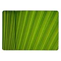 Green Leaf Pattern Plant Samsung Galaxy Tab 10 1  P7500 Flip Case by Onesevenart
