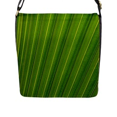 Green Leaf Pattern Plant Flap Messenger Bag (l)  by Onesevenart