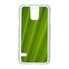 Green Leaf Pattern Plant Samsung Galaxy S5 Case (white) by Onesevenart