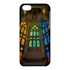 Leopard Barcelona Stained Glass Colorful Glass Apple Iphone 5c Hardshell Case by Onesevenart