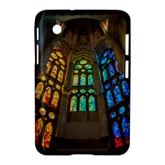Leopard Barcelona Stained Glass Colorful Glass Samsung Galaxy Tab 2 (7 ) P3100 Hardshell Case  by Onesevenart