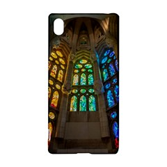 Leopard Barcelona Stained Glass Colorful Glass Sony Xperia Z3+ by Onesevenart
