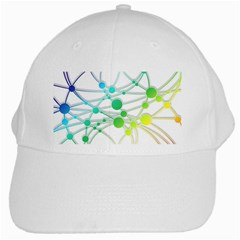 Network Connection Structure Knot White Cap by Onesevenart