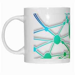 Network Connection Structure Knot White Mugs by Onesevenart