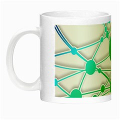 Network Connection Structure Knot Night Luminous Mugs by Onesevenart