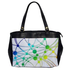 Network Connection Structure Knot Office Handbags by Onesevenart