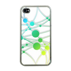 Network Connection Structure Knot Apple Iphone 4 Case (clear) by Onesevenart