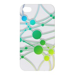 Network Connection Structure Knot Apple Iphone 4/4s Premium Hardshell Case by Onesevenart