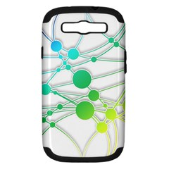 Network Connection Structure Knot Samsung Galaxy S Iii Hardshell Case (pc+silicone) by Onesevenart