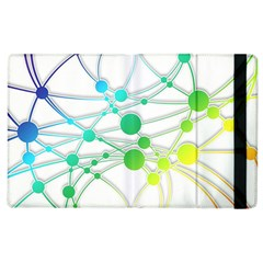 Network Connection Structure Knot Apple Ipad 2 Flip Case by Onesevenart