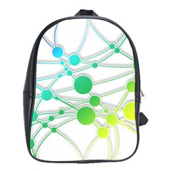 Network Connection Structure Knot School Bags (xl)  by Onesevenart