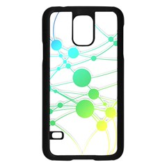 Network Connection Structure Knot Samsung Galaxy S5 Case (black) by Onesevenart