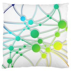 Network Connection Structure Knot Standard Flano Cushion Case (two Sides) by Onesevenart