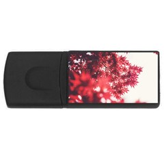 Maple Leaves Red Autumn Fall Usb Flash Drive Rectangular (4 Gb) by Onesevenart
