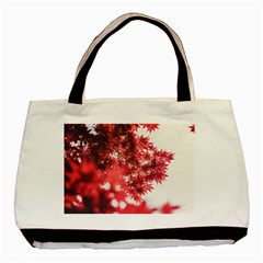 Maple Leaves Red Autumn Fall Basic Tote Bag (two Sides) by Onesevenart